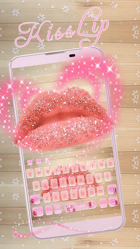 Sexy Kiss Lip Theme for Keyboard Glitter 10001002 screenshots 2