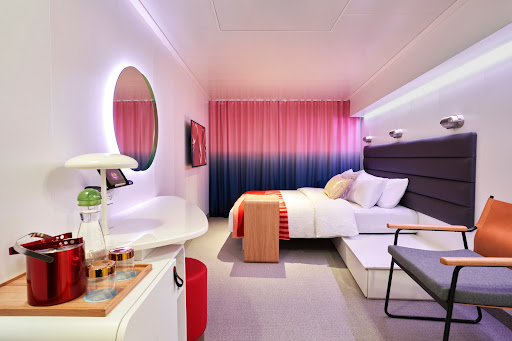 A look at one of the Sea Cabins on Scarlet Lady from Virgin Voyages.