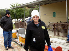Photo: Donna Greene, who looks comfortable in this cold.    HALS Public Run Day 2014-1115 RPW