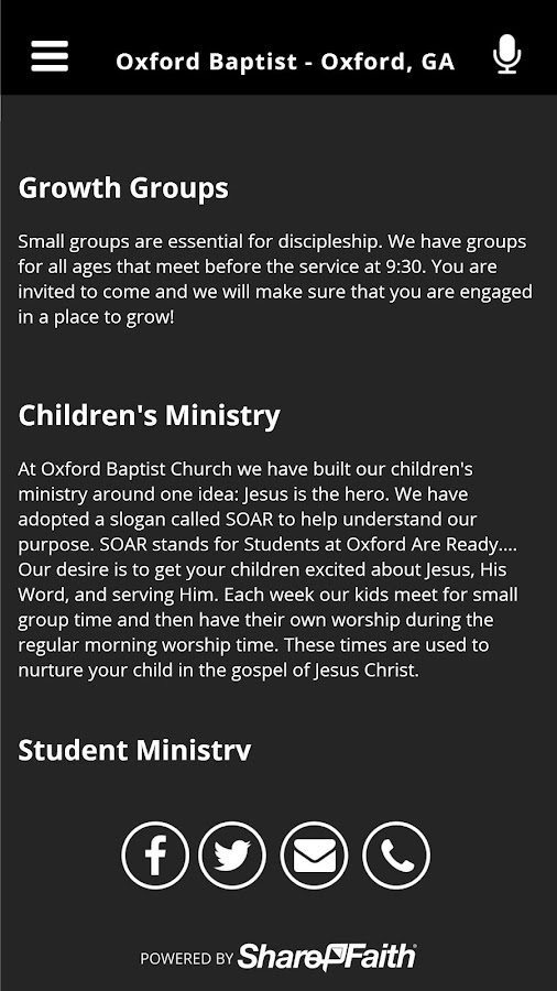Oxford Baptist - Oxford, GA- screenshot