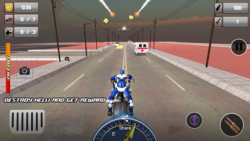 Police Bike Robot Shooter: Moto Racing Simulator 1.5 screenshots 2