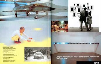 Photo: Centre Georges Pompidou, 1997, page de l'album du 20e anniversaire