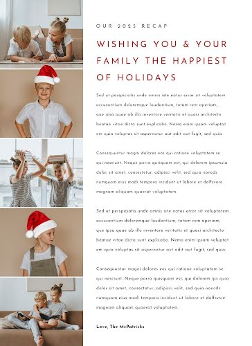 Family Holiday Report - Christmas Template