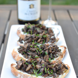 Mushroom And Goat Cheese Crostini