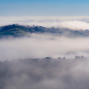 Islands in the fog by Mauro Fini - Landscapes Cloud Formations ( clouds, fog )