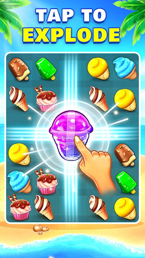 Ice Cream Paradise - Match 3 Puzzle Adventure apktram screenshots 2