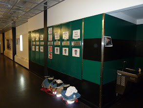 Photo: More fire lockers, notice boots and coveralls ready for action.