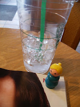 Photo: I worked out with Sunny at the gym after church. We both needed some cool ice water and a magazine to help us relax after such a busy day. the end.