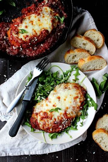 Dinner for Two: Skillet Chicken Parmesan - Wry Toast