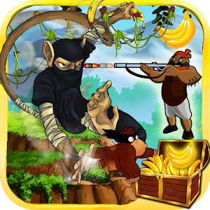 ninja monkey in jungle castle for PC and MAC