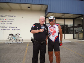 Photo: Dale with the Police Chief with Police Dept Patch