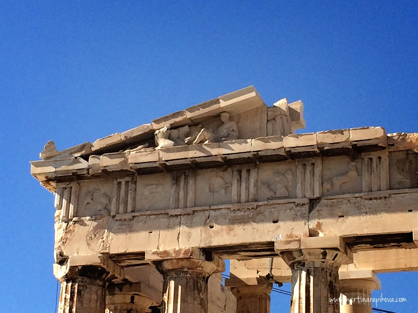 The details of Parthenon, Acropolis, Athens, Greece