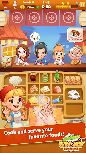 Sushi Master - Cooking story  captures d'u00e9cran 1