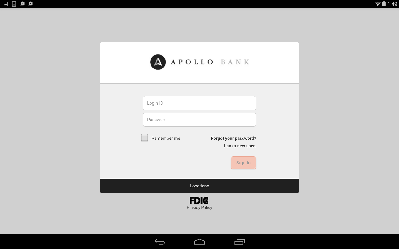 Apollo Bank Mobile Banking- screenshot