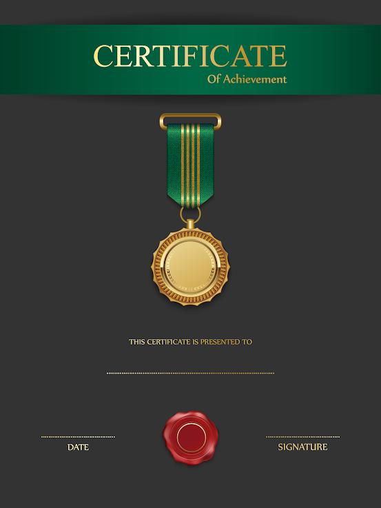 Black Green Certificate Template iQ-fI17Cr7bvnvhJNJ-B