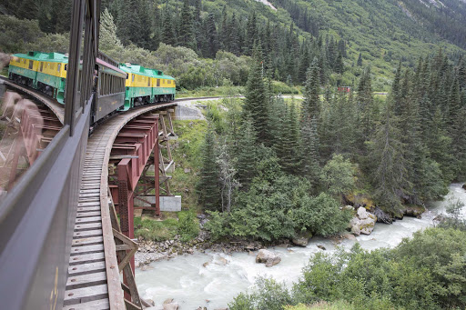 Uncruise-SSLegacy-railroad.jpg - Hop aboard the White Pass and Yukon Route Railroad for the trip of a lifetime with UnCruise Adventures.
