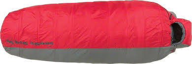 Big Agnes Encampment 15F Sleeping Bag: Synthetic, Red/Gray, Regular