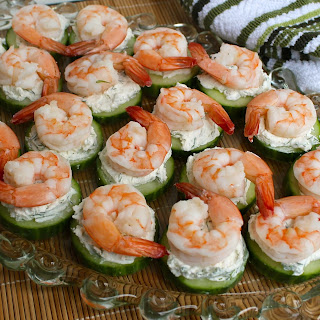 Cucumber-Shrimp Bites