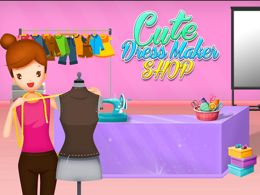 Cute Dress Maker Shop: Little Tailor Boutique android2mod screenshots 5
