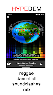 HypeDem Internet Radio Screenshot