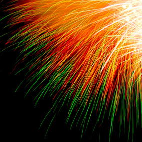by D. Bruce Gammie - Artistic Objects Other Objects ( bright, shower of light, fireworks, night, sparks )
