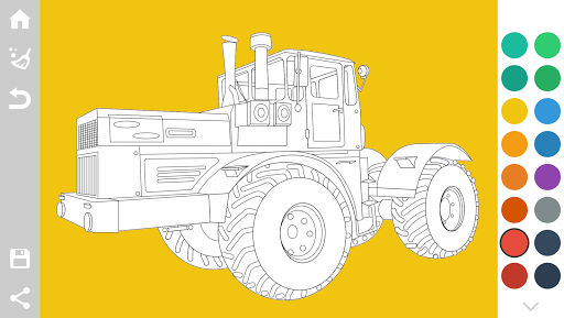 Tractors Coloring Pages Game 1.6 screenshots 2