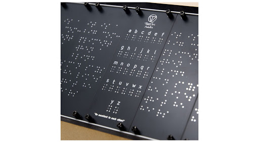 """The """"Blind"""" Panel: An inspiring blank Eurorack panel covered in Braille"""