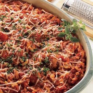 Make-Ahead Spaghetti and Meatball Casserole.