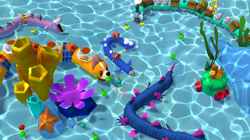 Snake Rivals - New Snake Games in 3D apktram screenshots 3
