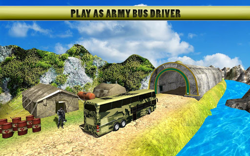 Army Bus Driver Transport Soldiers