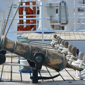 Signal Cannon Aboard the Tall Ship Star Clipper by Bill Frank - Transportation Boats ( sailing, tall ships, travel, sailboat, travel photography )