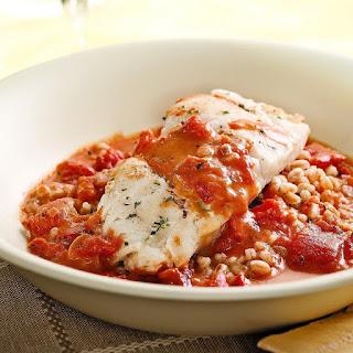 Cod with Tomato Cream Sauce.