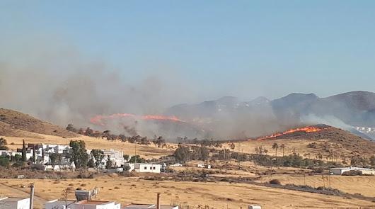 Imagen del incendio de junio de 2017 en Cabo de Gata.