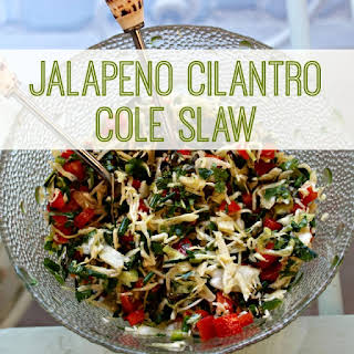 Super Yummy Jalapeño Cilantro Cole Slaw.