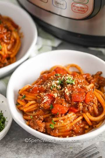 Instant Pot Spaghetti {30 Min Meal!} - Spend With Pennies