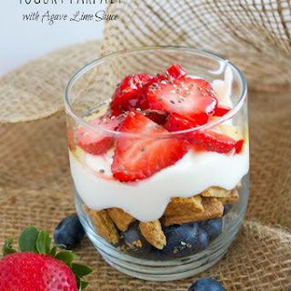 Greek Yogurt Parfait with Agave Lime Sauce