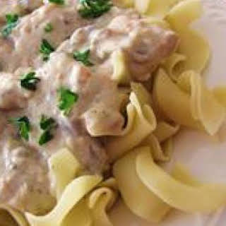 Crock-Pot Chicken Stroganoff.
