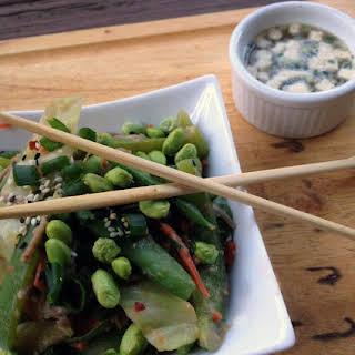 Shrimp & Veggie Soba Noodle Stir Fry.