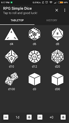 RPG Simple Dice  captures d'écran 1