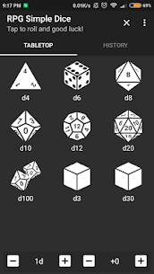 RPG Simple Dice Apk for Android. [DND 5E compaitable] 1