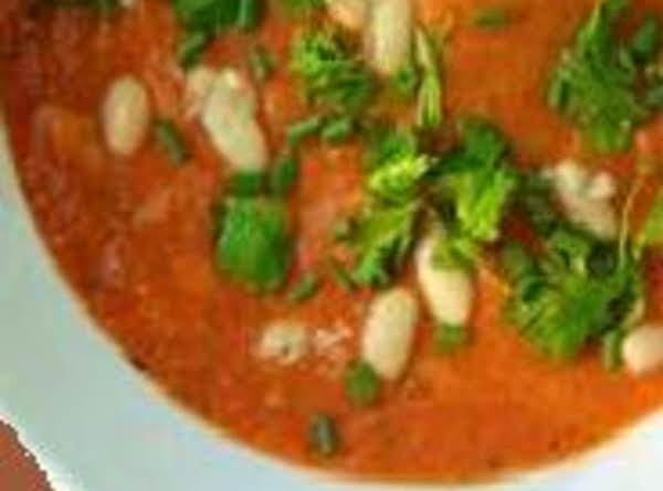 Heart Healthy Tomato Bean Soup, Low Fat Recipe