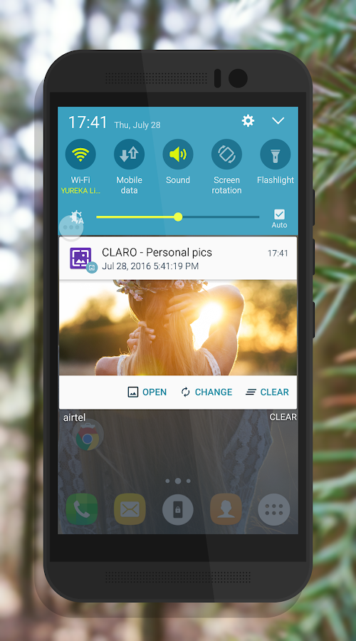 CLARO Random Wallpaper Changer- screenshot