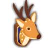 剥製風装飾鹿