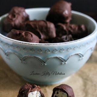 Chocolate covered Chocolate Chip Yogurt Bites