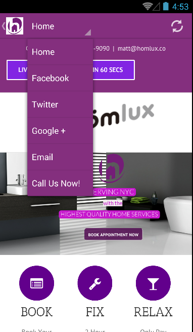 homlux home services (nyc)- screenshot