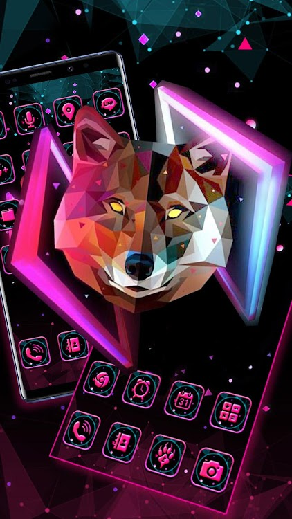 3d Neon Wolf Themes Hd Wallpapers Android Aplicaciones