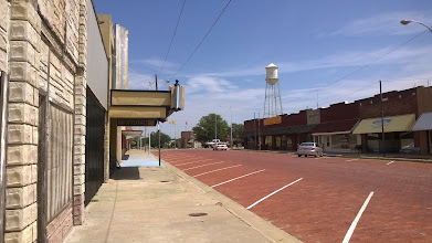 """Photo: August 9-There were a number of times when I thought, """"This is straight out of the movie Cars."""" The deserted main drag of McClean, TX was one example."""