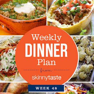 Skinnytaste Dinner Plan (Week 48).