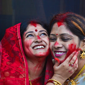 THE DIVINE CELEBRATION by Arunava Das - People Portraits of Women