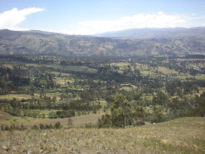 Photo: View from the cross to the left of Huaraz.